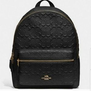 COACH BACKPACK BAG Signature Leather DEBOSSED Bag
